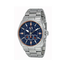 Armani Exchange Chronograph Blue Dial Stainless Steel Mens Watch AX1800