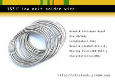 Special-183℃(degree C)low melt temperature solder wire,dia.0.5mm,16 meter length