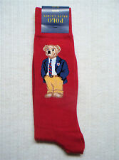 POLO Ralph Lauren - Men's Limited Edition TEDDY BEAR Cotton Socks - RED
