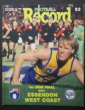 1993 1st semi final Essendon v West Coast Football Record