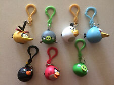 Official Angry Birds: Set of 7 Key-Chains (New)(Loose w/o Packaging)