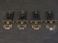 Four Matching Antique Mortise Locks and Strike Plates - All Working