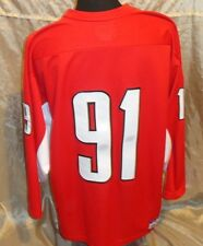 KOBE MEN'S #91 RED/WHITE HOCKEY POLYESTER MADE IN CANADA JERSEY SZ XL
