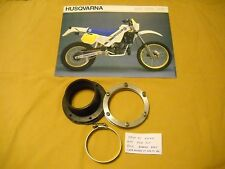 1986 HUSQVARNA 400 XCE Air Box intake boot, flanges, and clamp