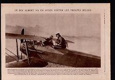 WWI Plane Roi Albert Belgique Paris-Bruxelles/Spartacus League 1919 ILLUSTRATION