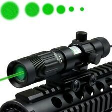 Adjustable Green Laser Sight Designator/Illuminator/Flashlight with Weaver Mount