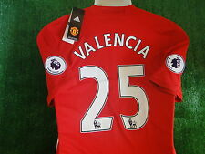 MAN UTD HOME SHIRT ** VALENCIA**  2016-17 BNWT SIZE MEDIUM AND BADGES