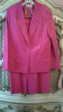 Count Romi Ultra Suede Pink Skirt Suit SZ 16