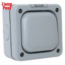 MK Masterseal K56400 1 Gang 1 Way 10A Outdoor Switch Weather Proof - Grey