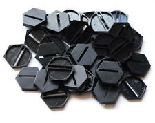 12 (Twelve) 25mm Hex Slotta Bases for Wargaming and Roleplaying NEW