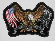 MILITARY USA EAGLE POW MIA DELUXE BIKER  hook & Loop fastening easy on/off PATCH