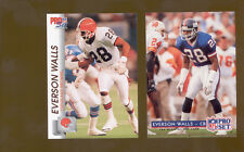 1992 Pro Set EVERSON WALLS New York Giants Cleveland Browns Card Lot