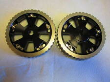 FIAT 124 SPIDER, 131 ADJUSTABLE CAM GEARS, BILLET ALUMINUM, BLACK ANODIZED
