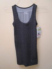 "NWT Under Armour fitted sleeveless top black/grey ""fish scale"" size XS"