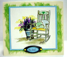 ROCKING CHAIR Retired (U get photo 2)L@@K@examples ART IMPRESSIONS RUBBER STAMPS