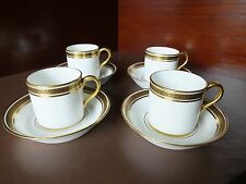 FOUR CAULDON COFFEE CANS & SAUCERS, 1905 - 20