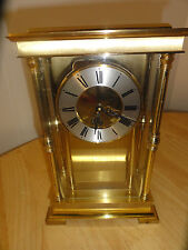 Antique W & A Schmid Schlenker Jr Brass Carriage BENCHMARK Clock, SSS GERMANY
