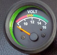 "New Voltmeter, Volt Gauge  VDO type, 2-1/16""/52mm, 12V system, w/wire harness"
