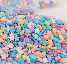 200pcs Acrylic Stars Beads Spacer DIY Bracelet Jewelry Kids Beaded Findings