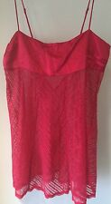 Victoria's Secret Red Silk Bodice & Lace Skirt Babydoll Lingerie Medium