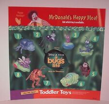 McDonald's Happy Meal Store Display Sign 1998 translite A Bug's Life Disney Toys