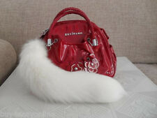 "10pcs 12""Car Keyrings White Fox Tail Fur Keychain Tassel Bag Charm Handbag Ring"