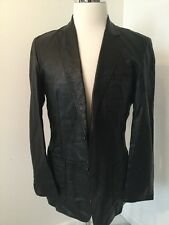 GUCCI BY TOM FORD MENS BLACK LEATHER JACKET BLAZER SPORTCOAT SIZE 50 WHIPSTITCH