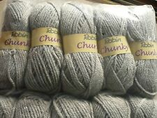 ROBIN CHUNKY KNITTING WOOL YARN SILVER GREY 5X100G THOMAS RAMSDEN SHADE 27