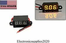 Orange Mini DC Waterproof 0.28 DC 3.5-30V Mini Digital LED Voltmeter Volt Meter
