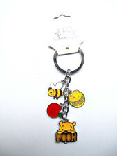 Free shipping 2 set Disney Winnie the pooh Metal Key Chain Ring Keychain
