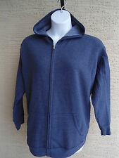 NEW WOMENS JUST MY SIZE ECO SMART ZIP FRONT HOODED SWEATSHIRT NAVY HETH 1X