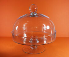 CLASSIC CLEAR GLASS CATERING FOOTED CAKE DISPLAY DOME