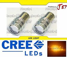 CREE LED Miniature 5W 1157 S25 BA15D Amber Orange Two Bulbs Replacement Light