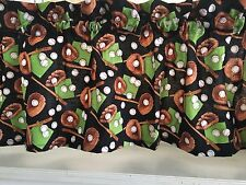 "NEW Kids Boys BASEBALL Bats Bases VALANCE Curtain 42""W x 13""L"