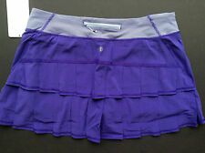 NWT Lululemon PACE SETTER TALL Skirt BRUISED BERRY Purple Stripe (Size 08 TALL)
