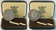 GUERNSEY 25 PENCE 25Th Wedding Anniversary Elizabeth and Philip Silver Proof