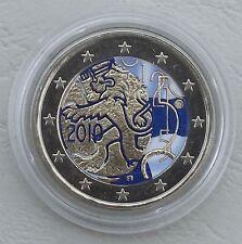 """2 Euro Finnland 2010 """"150 Jahre Währung"""" in Farbe unz."""