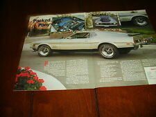 1971 FORD MUSTANG MACH 1  ***ORIGINAL 1991 ARTICLE***