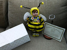 Bumble Bee Porcelain Doll By HERITAGE SIGNATURE COLLECTION IN BOX NEW & COA
