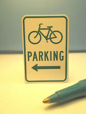 Miniature Bicycle Parking Sign : Dollhouse  S646