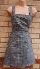NEW LOOK A LINE DOG TOOTH PRINT CHECKED FORMAL WORK 18 % WOOL WINTER DRESS 8 S