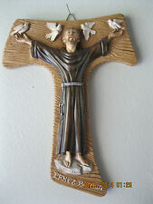 St. Francis of Assisi - S. Francesao d'Assisi- with Doves  wall plaque