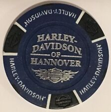 HANNOVER, GERMANY HARLEY DAVIDSON POKER CHIP (BLUE & BLACK)