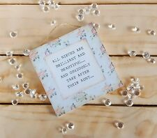 Handmade plaque sign gift sign niece auntie birthday shabby chic present decor