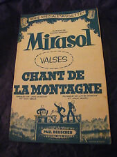 Partition Mirasol Chant de la Montagne Ledru 1957 Music Sheet