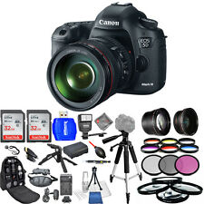 Canon EOS 5D Mark III DSLR Camera with 24-105mm Lens! MEGA BUNDLE USA MODEL NEW!