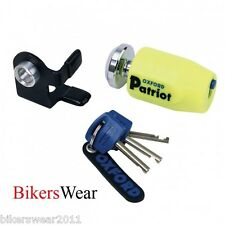 OXFORD Patriot Yellow Disc Lock Strong Universal Motorcycle Lock