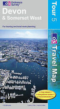 OS Ordnance Survey Tour Travel Map 1:100,000 Devon and Somerset West