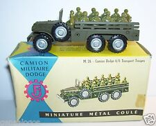 OLD MILITARY1960 DODGE TORPEDO 6X6 TRANSPORT TROUPES FRANCE JOUETS FJ REF402 BOX