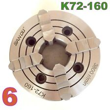"1 pc Lathe Chuck 6"" 4Jaw Independent & Reversible Jaw K72-160 sct-888"